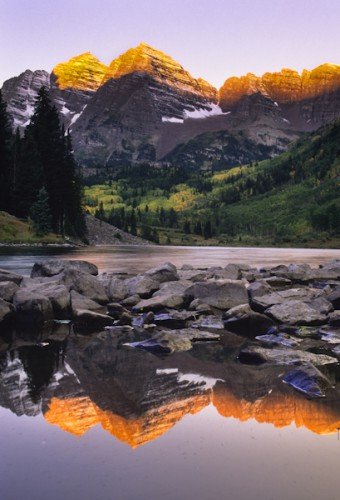 Marroon Bells Reflection, Colorado's Rockies,U.S.A.