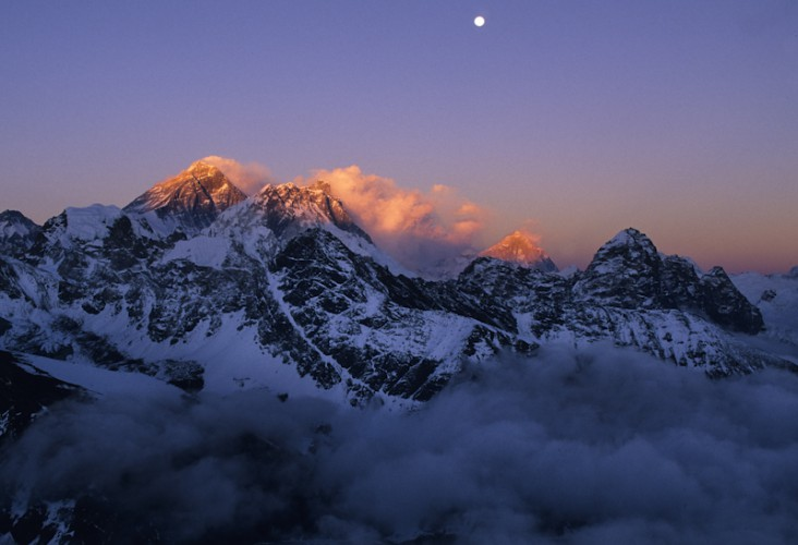 The Big Three, Everest, Lhotse, Makalu, Khumbu Valley, Nepal