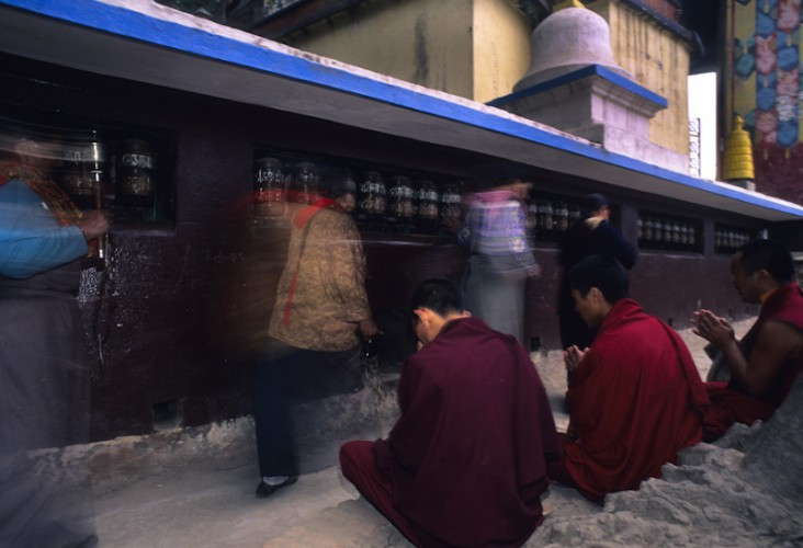 The prayers, Khatmandu, Nepal