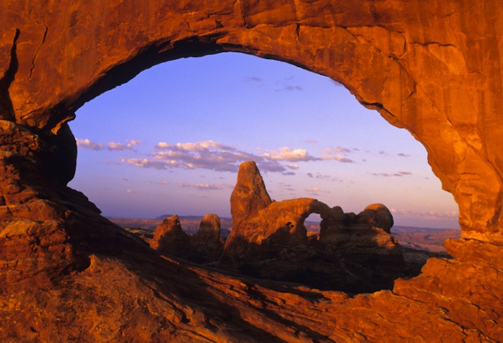 Through the Arch, Arches N.P., Utah, U.S.A.