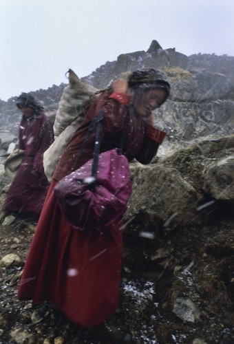 Nepali's Monks - Khumbu Valley, Nepal