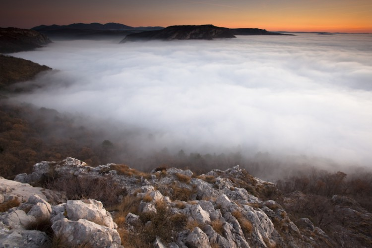 Above the Clouds, Val Rosandra, Carso, Trieste, Italy