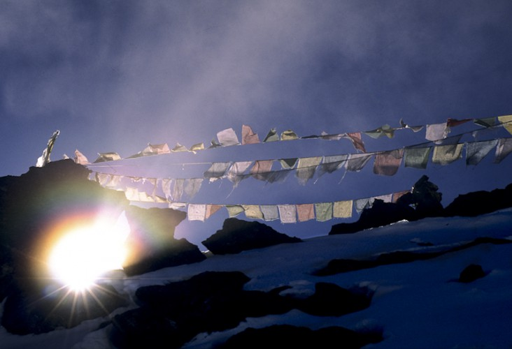 God Beams, Gokyo-Ri, Khumbu Valley, Nepal.