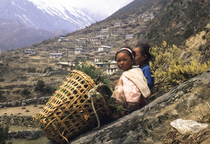 Sherpa's Child, Khumbu Valley, Nepal