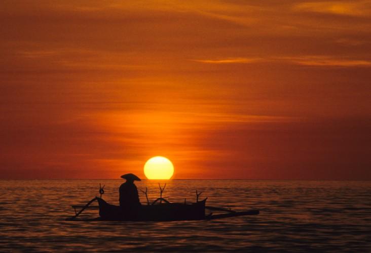 Indonesian Fisherman, Sulawesi, Indonesia