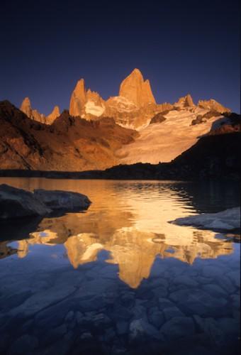 Morning reflection, Mt Fitz-Roy, Patagonia, Argentina
