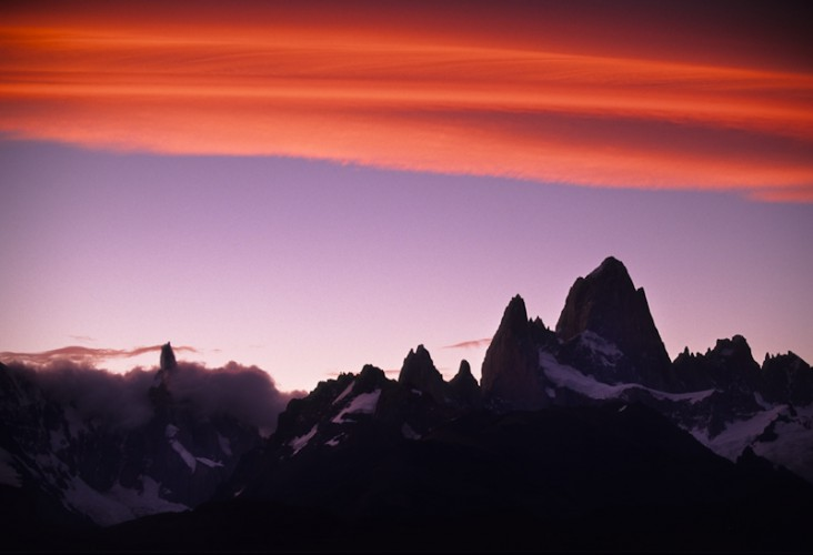 Under the Patagonian Sky. Mt. Cerro-Torre, Mt. Fitz-Roy, Argentina