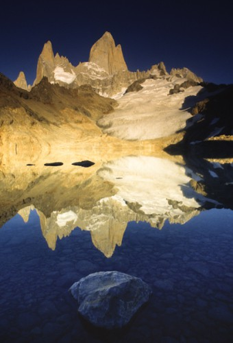 Reflection, Mt. Fitz-Roy, Patagonia, Argentina