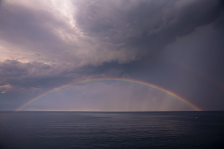 Rainbow over Kvarner Gulf, Croatia