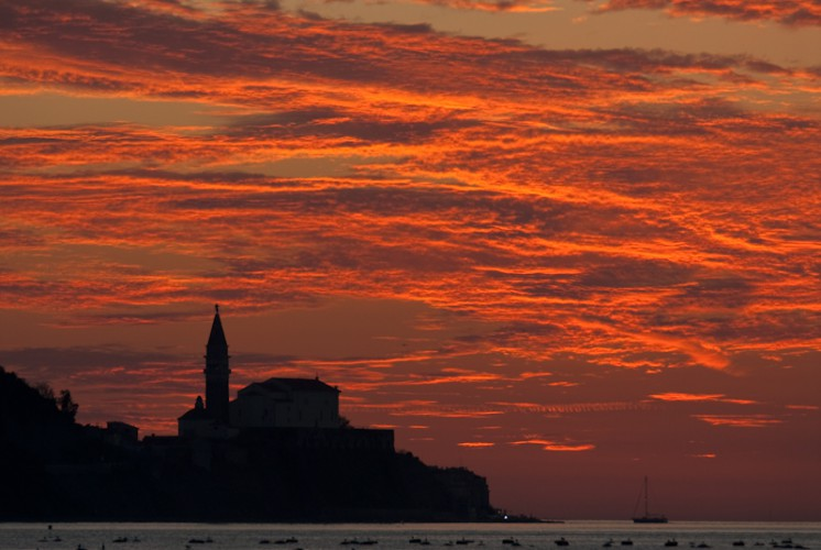 Summer's Sunset, Novigrad, Slovenia