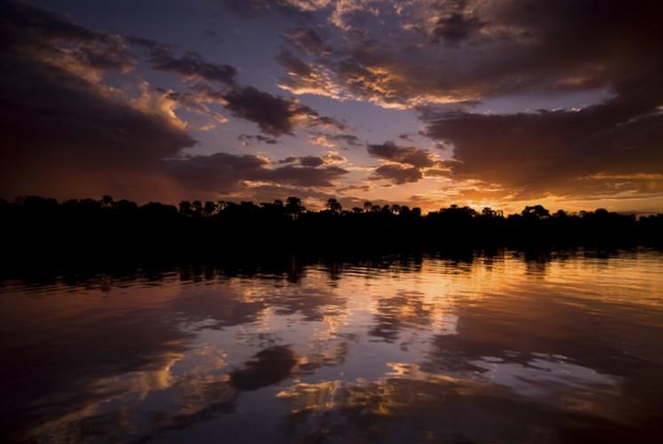 Sunset, Zambezi river, Zimbabwe